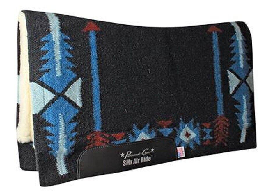 Professional's  Choice Flecha Negro Azul contorneada Air Ride Silla Almohadilla Profesional Merino  precioso