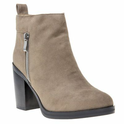 Clothing, Shoes & Accessories New Womens Solesister Natural Trott Synthetic Boots Ankle Zip Aromatic Character And Agreeable Taste