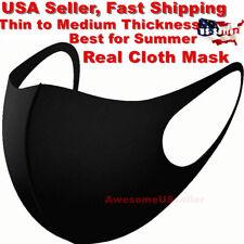 Black Women Men Unisex Face Masks Cloth Cover Fashion Mask Washable Reusable USA