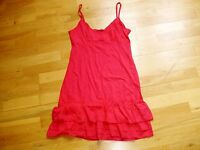 Ladies cerise pink nightdress chemise new with tags size 8-10 dunnes stores