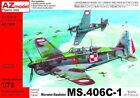 "AZ Models 1/72 Morane-Saulnier MS.406c-1 "" BATTAGLIA DELLE Francia "" #7528"