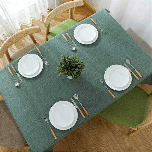 Nordic Tablecloth Cotton Linen Dust-Proof Table Cover for Kitchen Dinning