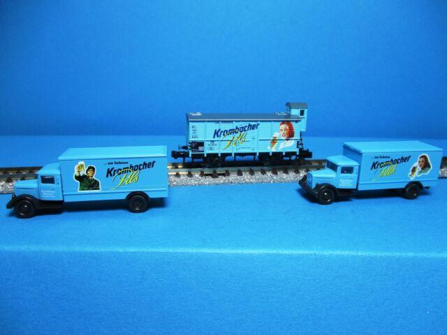 Trix 91060 DB Bierwagen-Set G 10 Krombacher Pils,2 Autos,NEU,OVP,M 1:160,