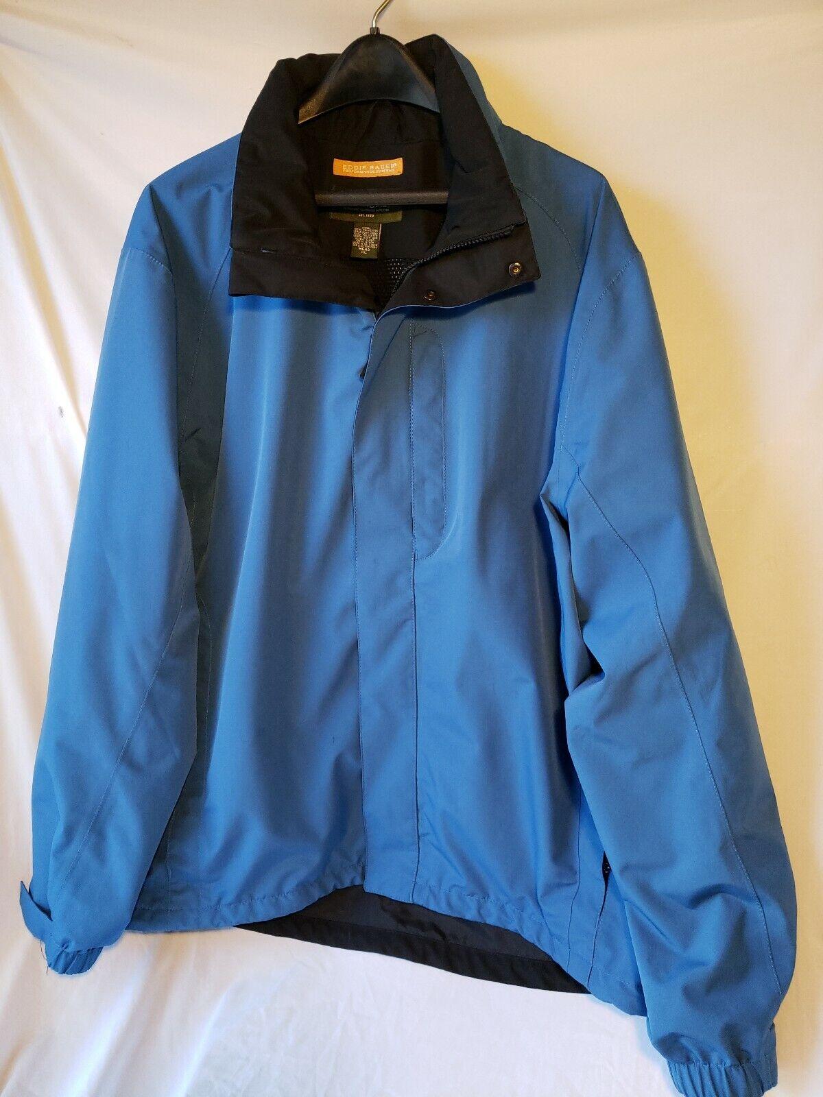 Eddie Bauer Mens XL Coat Performance Systems Zippered bluee  XLarge