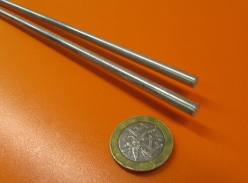 """304 Stainless Steel Rod 2 Units 5 mm Diameter -.043mm/"""" x 36 Inch Length"""