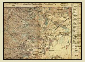 MAP-ANTIQUE-AUSTRO-HUNGARIAN-MILITARY-1872-LIESING-REPLICA-POSTER-PRINT-PAM0541
