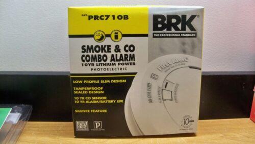 NEW BRK PRC710B SMOKE /& CARBON MONOXIDE ALARM 10 YR LITHIUM POWER LOW PROFILE