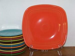 Fiesta-POPPY-9-034-Square-Luncheon-Plate-1st-Quality