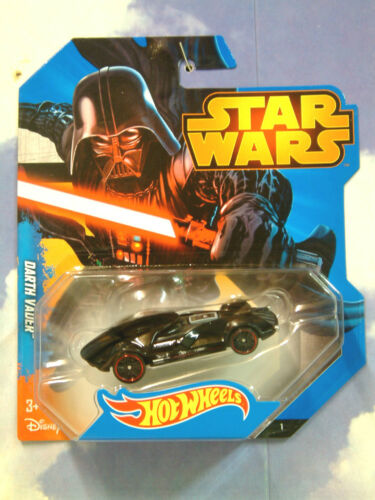 Mattel Hot Wheels Star Wars Darth Vader Charakter Auto in Schwarz Redline Räder