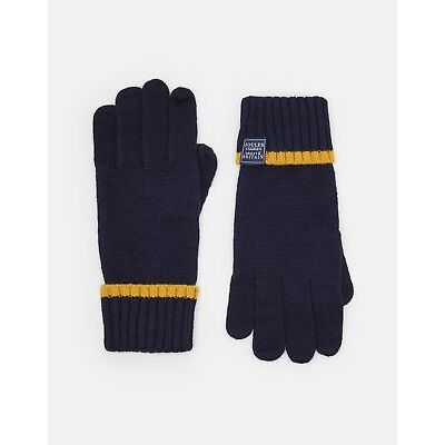 Joules Womens Warmdale Knitted Gloves ONE in FRENCH NAVY in One Size