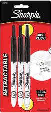 Sharpie Ultra Fine Point Retractable Permanent Markers 3pkg Black 1735793