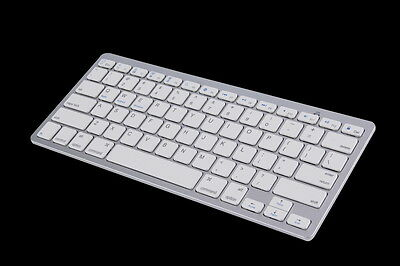 New Silver Wireless Bluetooth Keyboard For Android MAC Windows OS System KK