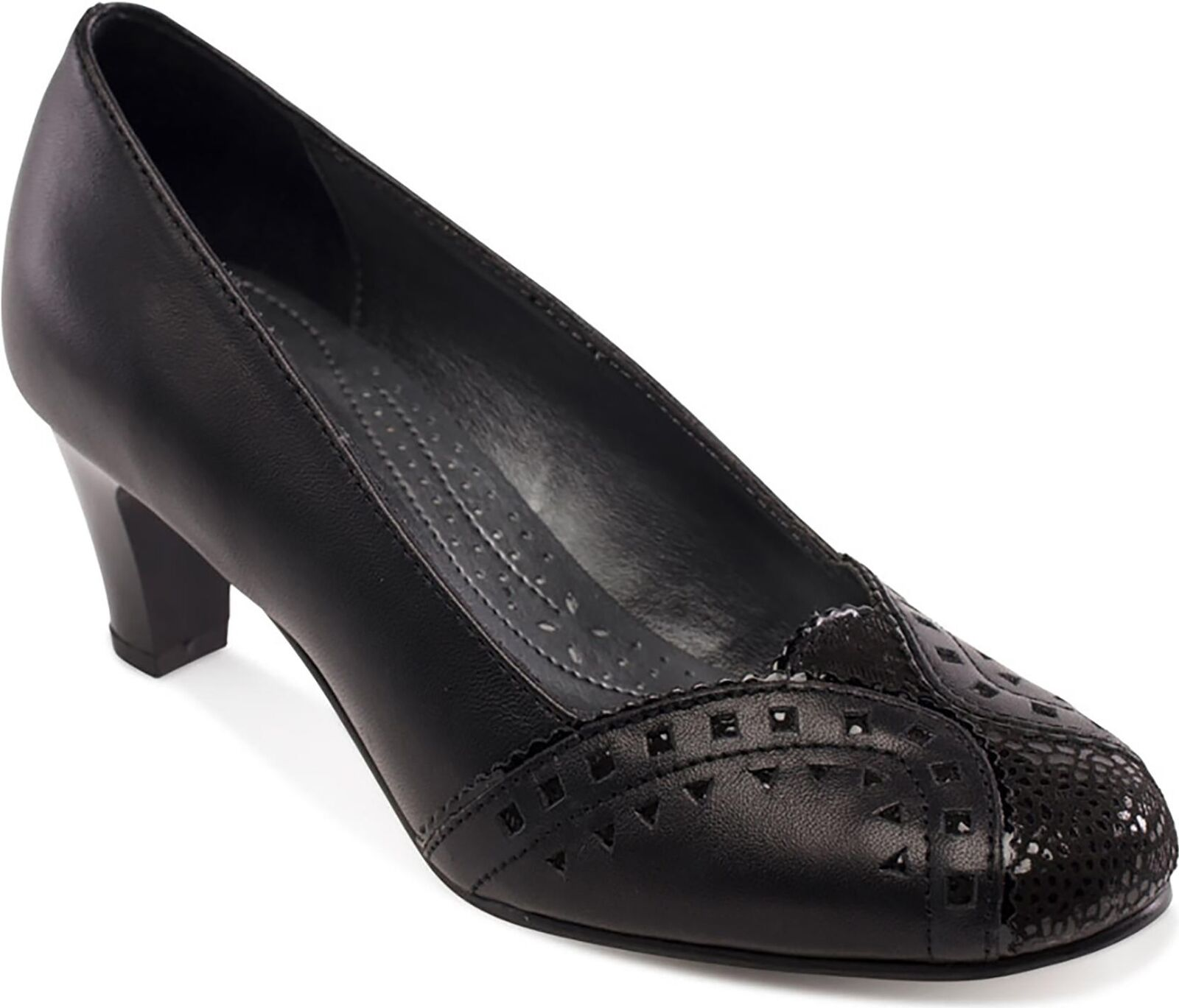 Padders Janet señoras para mujer de de de cuero cómodo amplio e del Tribunal Zapatos Negro  servicio honesto