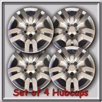 4 16 Silver Bolt On Nissan Altima Hubcaps Fits 2009-2012, Altima Wheel Covers