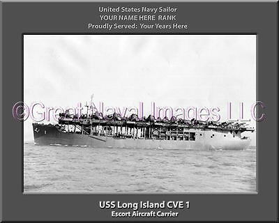 USS Bairoko CVE 115 Personalized Canvas Ship Photo Print Navy Veteran Gift