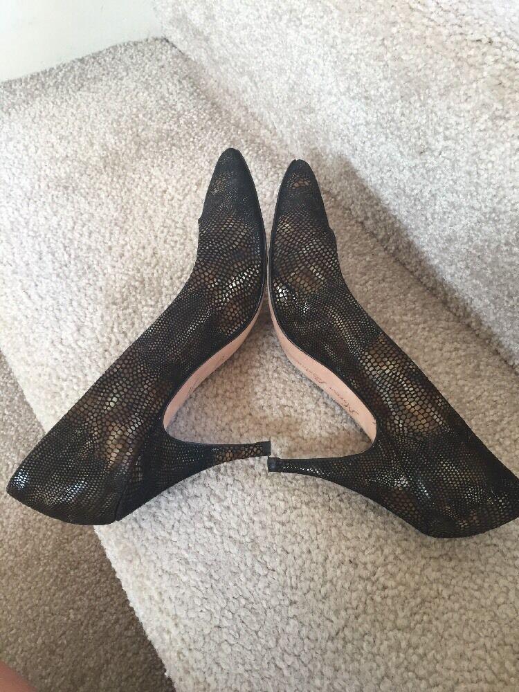 Norma Betancourt 8.5 m  Heels Braun Reptile Print Pumps Heels  Spain Great ed2daf