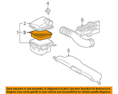 Genuine Lexus LS Car Replacement Air Cleaner Filter 1780150030