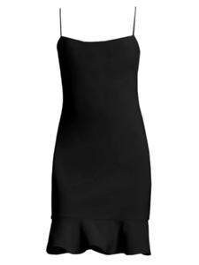 Black Likely Banks Flounce Sheath Dress Women/'s Size 4