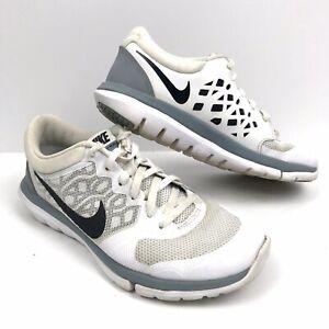 seleccione original producto caliente grandes ofertas Nike Womens Flex Run 2015 White Gray Black Swoosh Size 7 US 709021 ...