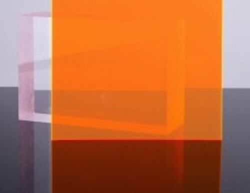 "Orange//Amber Fluorescent Acrylic Plexiglass sheet 1//8/"" x 24/"" x 47/"" #9096"