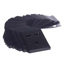 Jewelry Earring Ear Studs Hanging Holder Display Hang Cards Plastic Black 100pcs
