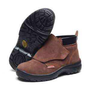MENS' Work Safety Shoes Smash-proof Penetration-re<wbr/>sistant Welder  Boots high cut