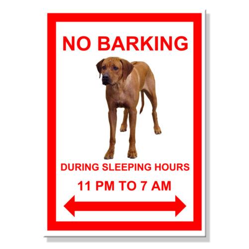 RHODESIAN RIDGEBACK No Barking FRIDGE MAGNET New DOG