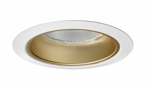 Gold Alzak with White Trim NEW Juno Lighting 17G-WH 4-Inch Recessed Trim