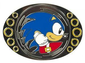 Sega-SONIC-THE-HEDGEHOG-SPINNER-BELT-BUCKLE-Funny-Spinning-Video-Game-Boys-Men