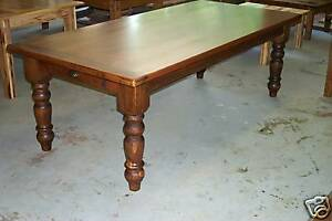Image Is Loading Handcrafted Antique Heart Pine Harvest Dining Table  Farmhouse