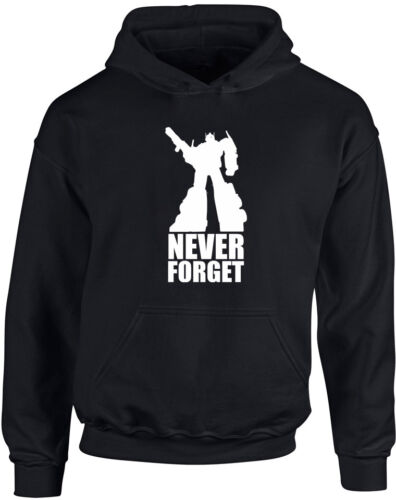 Never Forget Transformers Inspired Kid/'s Printed Hoodie Optimus Prime Autobot