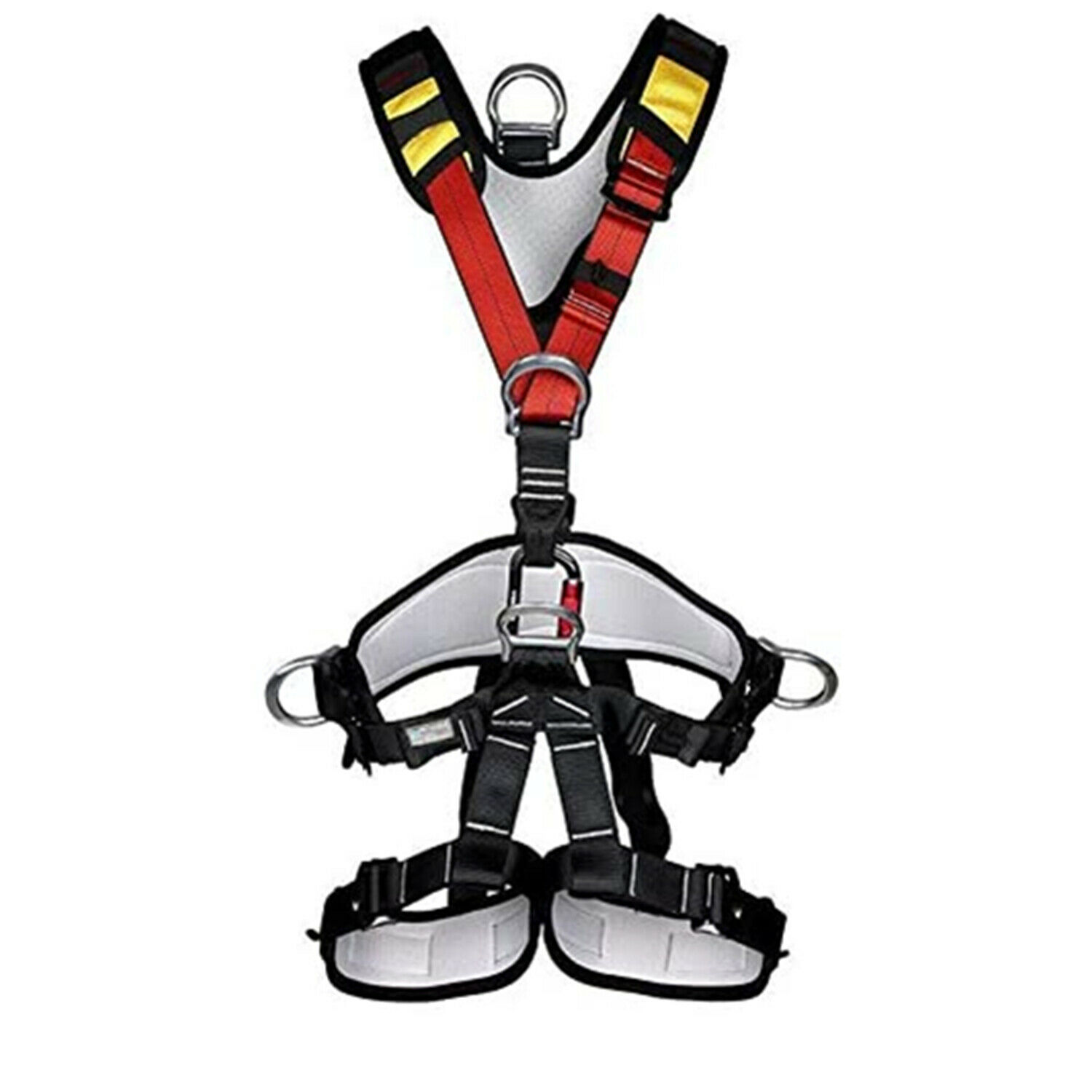 Details about  /Climbing Set Climber Adjustable Pro Body Safety Harness Glove Rappelling Rope