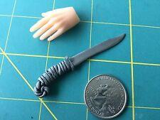 "Fantasy ""Grey Wiz Hunter"" Knife 1:6 Scale Hand Crafted Miniature Steel By Auret"
