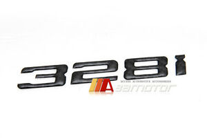 BMW E46 3-Series Rear Trunk Lid Emblem Badge Real Carbon Fiber Letters 328Ci