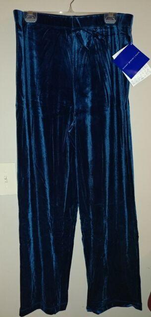 92f5a809e95ca Susan Graver Stretch Velvet Pull-on Regular Pants A21061 INDIGO XLARGE