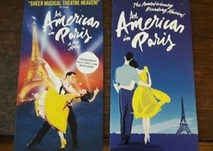 2-DIFFERENTS-FLYERS-FLYER-MUSICAL-WEST-END-LONDON-AN-AMERICAN-IN-PARIS
