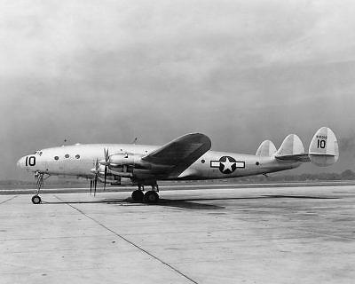 Luftfahrt & Zeppelin Wwii Lockheed C-69 Constellation Seitenansicht 8x10 Silber Halogen Fotodruck Evident Effect