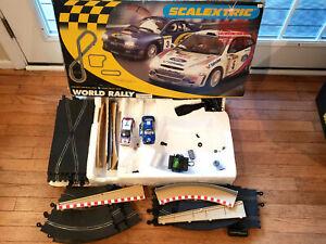 1-32-SCALEXTRIC-C1048T-WORLD-RALLY-BOX-SET-SUBARU-FORD-FOCUS-WRC-SLOT-CAR-AS-IS