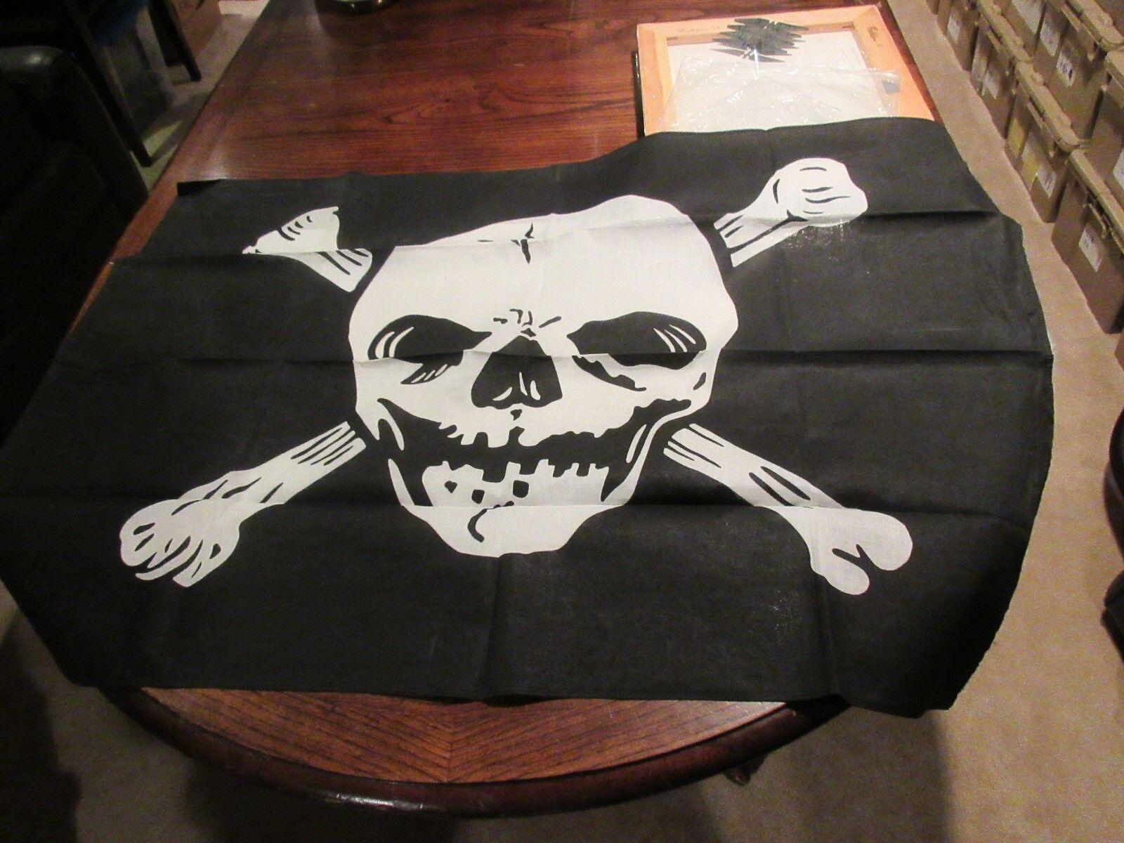 """Skull & Cross Bones Banner / Table Cover , 42"""" X 29"""" ,"""