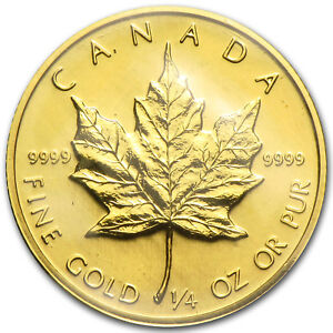 1982-Canada-1-4-oz-Gold-Maple-Leaf-BU-SKU-82819