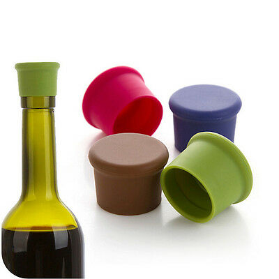 Silicone Wine Bottle Stoppers Wine Beer Round Seal Cap Kitchen Bar Tools Hot