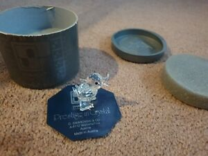 RARE-Retired-Swarovski-Crystal-Mini-Drake-Duck-Quacking-Mint-Boxed-7660-040000