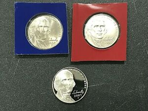 3 COINS PROOF 2015 P  D S JEFFERSON NICKEL GEM UNCIRCULATED Coins