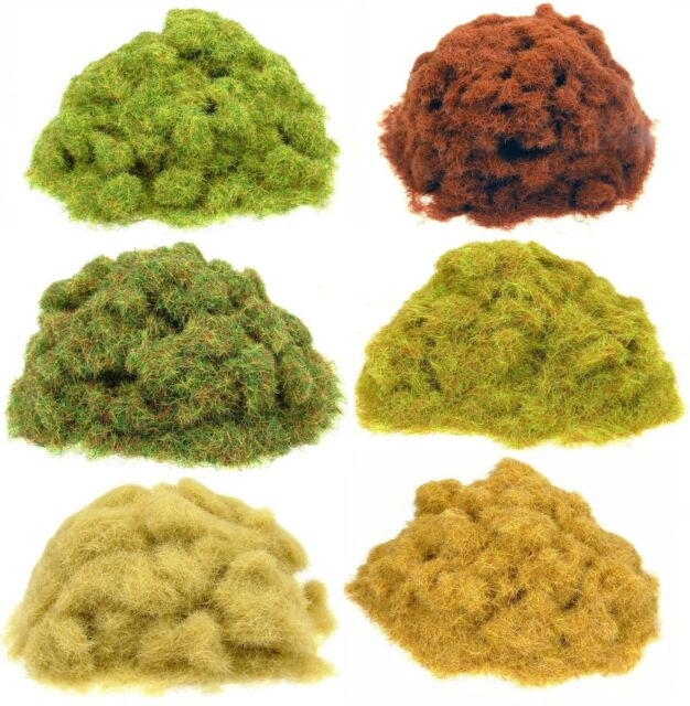 CLEARANCE SALE 50g Static grass bags - Model scenery flock grass