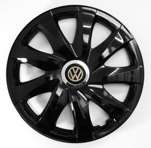 4x16 39 39 wheel trims for vw volkswagen crafter caddy golf sharan t5 black 16 39 39 ebay. Black Bedroom Furniture Sets. Home Design Ideas
