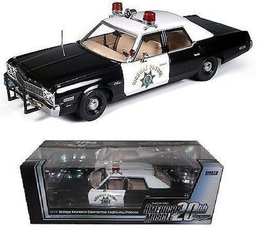 ventas al por mayor 1 18 ertl Autoworld elite 1974 1974 1974 Dodge Mónaco California Highway Patrol  el mejor servicio post-venta