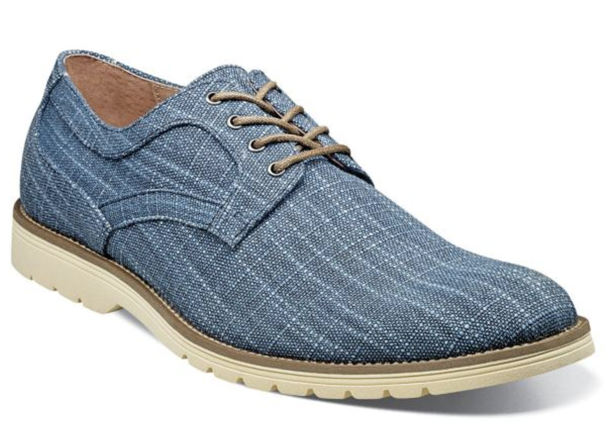 100% autentico Stacy Adams Eli Plain Toe Toe Toe Oxford Casual scarpe Canvas blu 25237-400  alla moda
