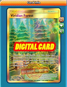 PTCGO, Digital Card SR Viridian Forest SECRET RARE for Pokemon TCG Online
