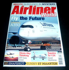 AIRLINER WORLD UK MAGAZINE ~APRIL 2017~LUFTHANSA'S A350 ~JOTA AVIATION +FREE S/H