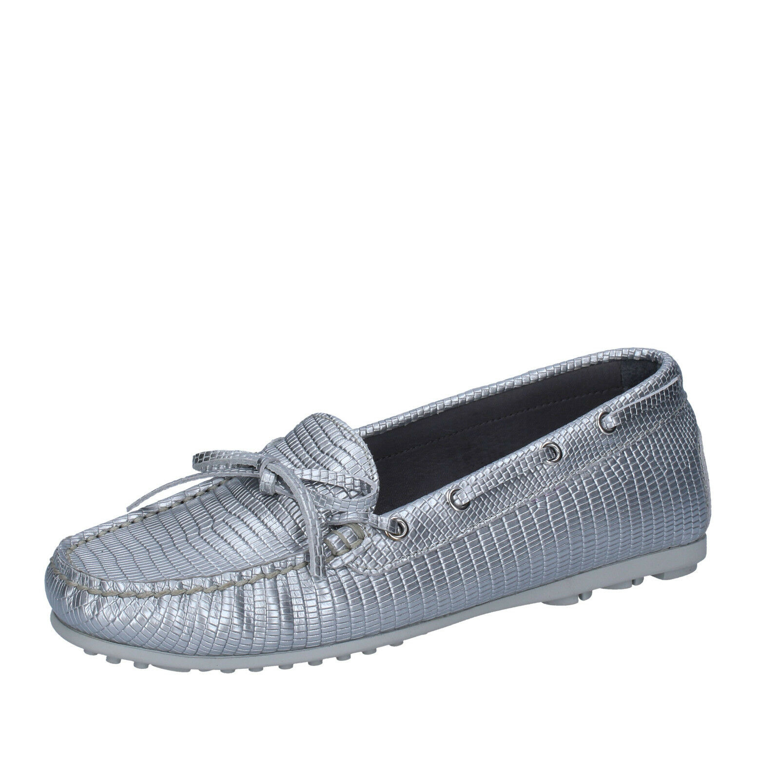 Womens shoes K852 & SON 4 (EU 37) slip on silver leather BT934-37